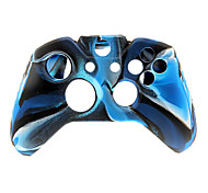 2 PCS Mushroom Caps and 2 PCS Black Thumb Stick Grips and Silicone Case for XBOX ONE(Navy Blue)