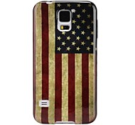 For Samsung Galaxy Case Ultra-thin / Pattern Case Back Cover Case Flag TPU Samsung S5