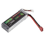Lion 11.1V 2200mah 30C Lipo Battery Power for RC Model Car Helicopter 450 3D(T Plug)