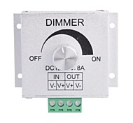 Aluminum Alloy 8A LED Rotary Dimmer - Silver (DC 12~24V)