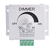 Liga de alumínio 8A LED Rotary Dimmer - Prata (DC 12 ~ 24V)