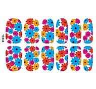 Sûr et écologique de tournesol 3D feuille à ongles pour les étudiants et Pregrantcies 3D Nail Sticker Art Tatoo