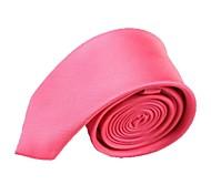 Solido Wedding Colour Fashion Watermelon Uomo Narrow microfibra cravatta