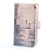 Shanghai Street Style PU Leather Case with Card Slot and Stand for Samsung Galaxy Grand Duos i9082