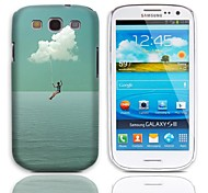 Want to Fly Design Hard Case with 3-Pack Screen Protectors for Samsung Galaxy S3 I9300