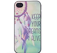 Keep Your Dreams Alive Plastic Hard Case for iPhone 4/4S