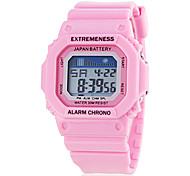 Women's Spectrum LCD Digital Square Dial Silicone Band Sporty Wrist Watch (Assorted Colors)