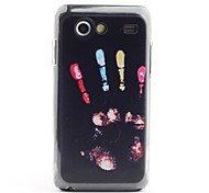 Colorful Hand Print Pattern Protective PVC Back Case for Samsung Galaxy S Advance i9070