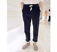 Casual Crotch Pantaloni Wash Corduroy Low Uomo
