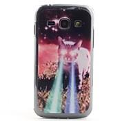 Gato com olhos do laser padrão PVC Back Case para Samsung Galaxy Ace S7272 3
