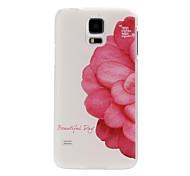 Patrón Hermosa Flor de plástico duro caso para i9600 Samsung Galaxy S5