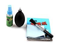 G-299 5-en-1 kit brosse de nettoyage + tissu de coton + Air Blower + tige + Outils de papier Kit pour appareil photo