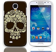 Skull Design Hard Case with 3-Pack Screen Protectors for Samsung Galaxy S4 I9500