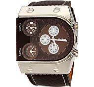 Lapin Forme de Rectangle Homme unité centrale de cadran de quartz de bande de montre de mode analogique