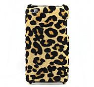 Felpa Leopard Skinning caja de plástico para el iPod touch 4