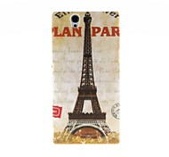 Kinston Eiffel Tower Pattern Plastic Hard Case for Sony L36h(Xperia Z)