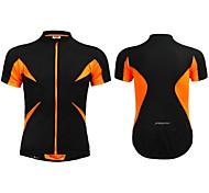 Jaggad Summer Unisex Black Orange Polyester Spandex Rear Zipper Pocket Cycling Jersey