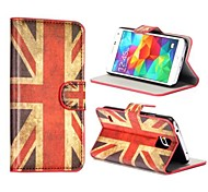 UK Flag Pattern Card Slot Stand Leather Case for Samsung Galaxy S5 I9600