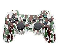 Camouflage Wireless Controller for PS3 (Green + White)