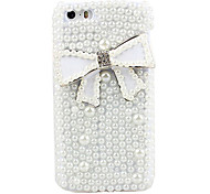 Bowknot & Peal Covered Back Case for iPhone 5/5S
