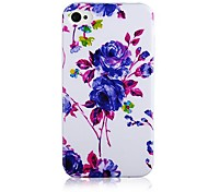 Purple Rugosa  Pattern Silicone Soft Case for iPhone5/5S