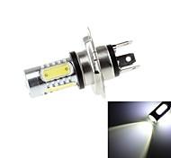 HJ Y-H4 H4-8W 8W 450lm 6000-6500K 5 COB Bulb para Lâmpadas LED carro (DC 12-24V)