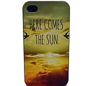 Here Comes The Sun So Beautiful Pattern PC Hard Case for iPhone 4/4S