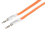 3.5mm Male to Male Audio Connection Flat Cable (Orange, 1m)