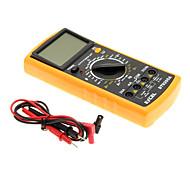 """LCD DT9205A 3 """"Multímetro Digital (Negro y Naranja)"""