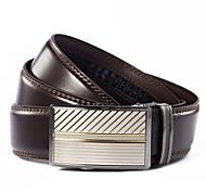 Uomo EVERGOLD Business Classico Split Leather Automatic Belt Buckle Brown