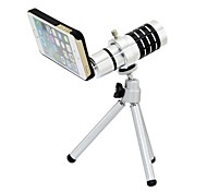 12X Telephoto Lens with Tripod and Ultraslim Matte PC Hard Case for iPhone 5