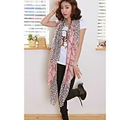 Mulheres Imprimir Voile Leopard Chine Scarf