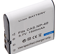 1500mAh 3.7V Digital Camera Battery NP-40 for CASIO EX-Z30,Z40,Z50 and More