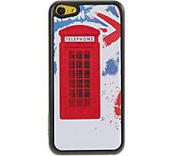Telephone Booth Pattern Shimmering PC Hard Case for iPhone 5C