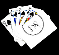 Personalized Gift White Signature Style Playing Card