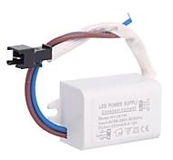 3x1W LED Driver Источник питания конвертер для верхнего света (6-12V, 300mAh)