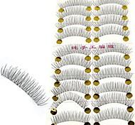 Procure novos 10 pares Handmade pestana Falso Falso Natural Stem Transparente