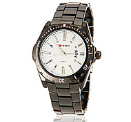 Men's Simple Round Dial Alloy Band Quartz Analog Casual Watch (Assorted Color)