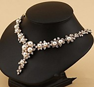Mode (geometrische Form) golden Legierung Perlenkette (gold) (1 PC)