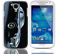 Car Pattern Hard Case with 3-Pack Screen Protectors for Samsung Galaxy S4 mini I9190