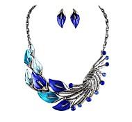nueva forma de diseño calla conjunto de moda más noble collar earringsstatement