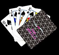 Presente personalizado Preto padrão de verificação do cartão de jogo para Poker