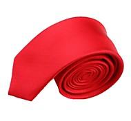 Plein de mariage Couleur Rouge Homme étroite cravate microfibre