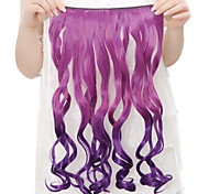Resistência de alta temperatura Two-tone de 20 polegadas longo encaracolado peruca Extensão 5 Clipe 9 cores disponíveis