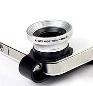 2 in 1 Universale U Stile clip 0.67X grandangolare Add-On Lens con obiettivo macro per iPhone / cellulari