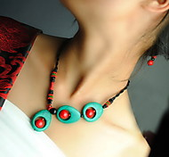 Black Statement Necklaces Fabric Party / Daily / Casual Jewelry