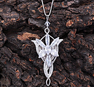 Fashion Lord of the Ring (Hollow With Star) Silver Silver Plated Pendant Necklace(Gold,Silver) (1 Pc)