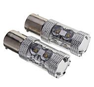 P21W 5W 680-750LM 12-Led Ampoules Auto-Blanc (12V)