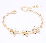 Alloy Flower Chain & Link Bracelets
