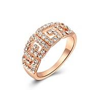 Exquis de qualité supérieure creuse Roma anneau 18K plaqué or rose bijoux en cristal Autriche
